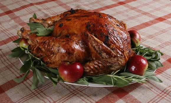 Turkey with apples