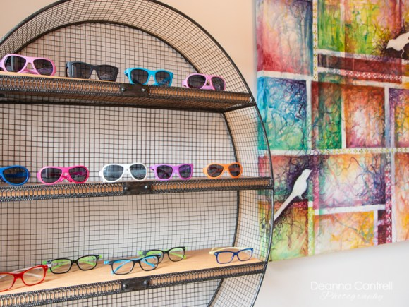 eye glass selection at Cathedral Eye Care