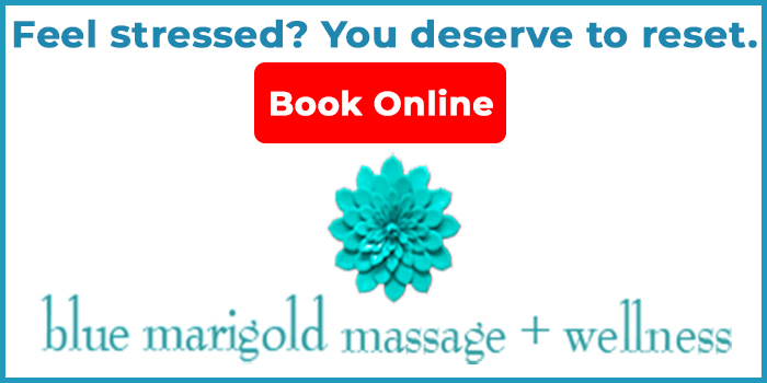 Blue Marigold Massage & Wellness, header advertisement