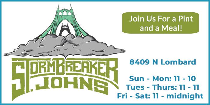 Stormbreaker Brewing St. Johns advertisement