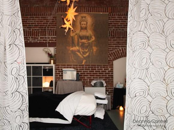 Massage table at Tension Tamer