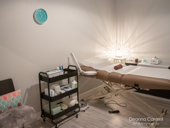 Private waxing bed at Pampered Orchid