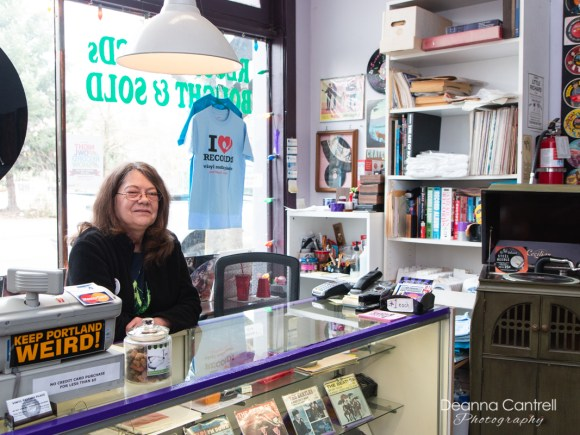 Vinyl Resting Place and store owner