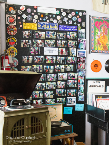 Vinyl Resting Place interior