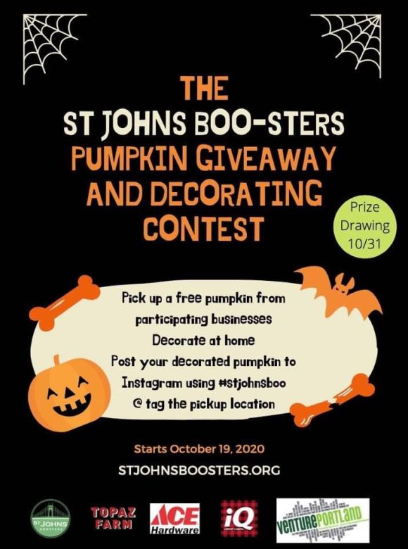 St. Johns Boosters Pumpkin Giveaway and Decorating Contest