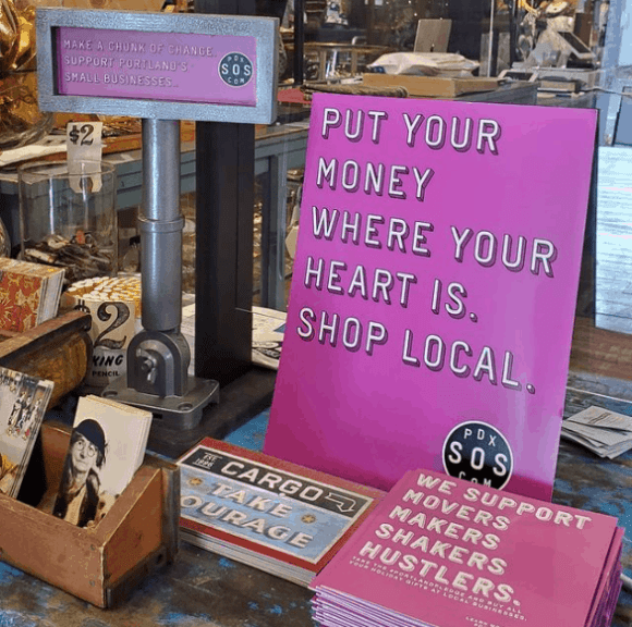 Put Your Money Where Your Heart Is, Shop Local