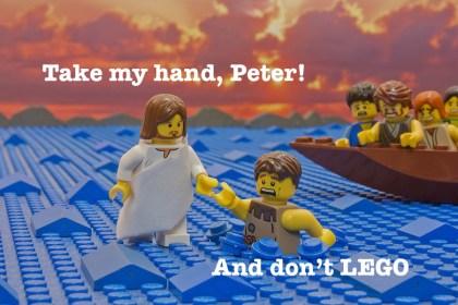 Peter walks on water meme