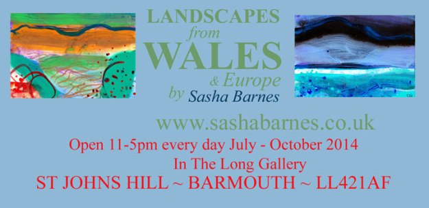 Poster advertising Sasha Barnes exhibition