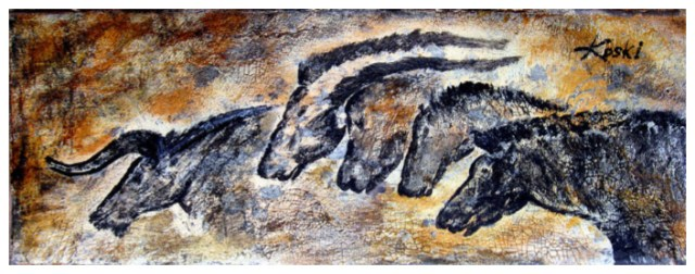 art based on cave painting