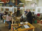 A hive of creative activity in the gallery