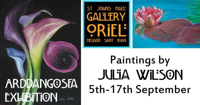 Paintings by Julia Wilson Exhibition 5-17 Sept 2017 at St John's Hall Gallery Barmouth