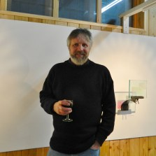 Preview evening Holographic Art Patrick Boyd at St John's Hall Gallery Barmouth