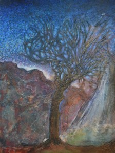 The Old Tree painting copyright Reyna Rushton