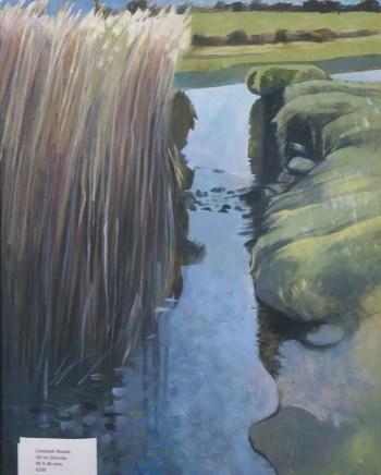 Llambedr Reed Beds painting by Bernard Barnes