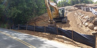 Bad silt fencing on Hull Bay Rd., St. Thomas, Sunday, June 25