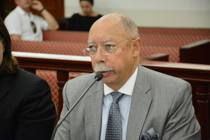 Attorney George Dudley testifying at a senate hearing in January of 2017 (Photo by Barry Leerdam, provided by the V.I. Legislature)