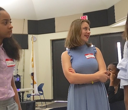 Good Hope County Day School students Savanna Capdeville, Carolyn Grimm and Kelsy Bhola talk about their cultural exchange trip to Denmark.
