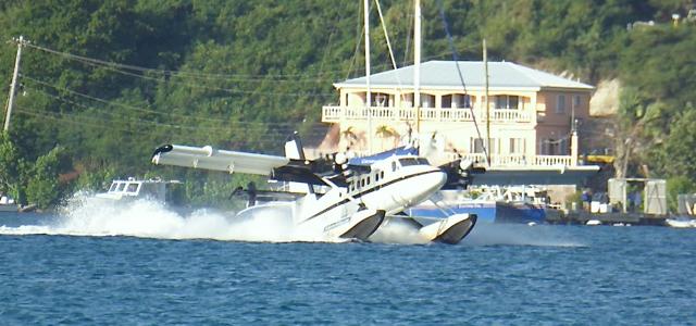 A Seaborne seaplane lands in Charlotte Amalie Harbor. (Source file photo)