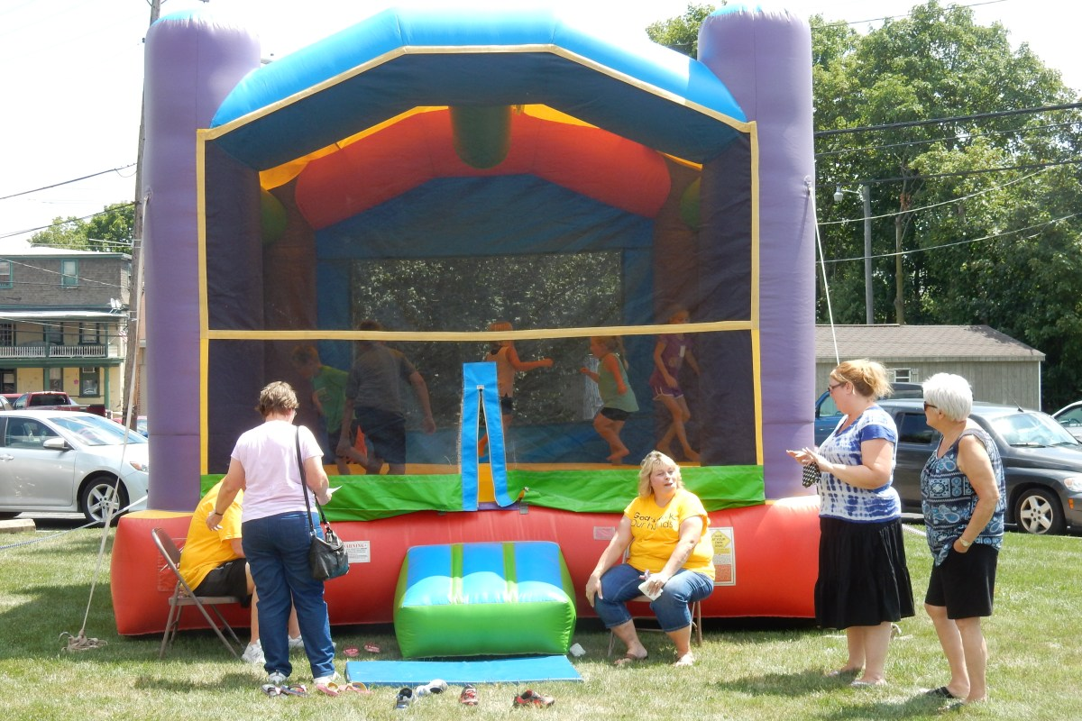 Kids love the bounce house