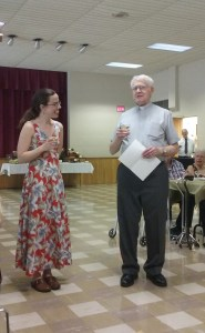 Pastor Landis Toasting Pastor Kat at her Ordination