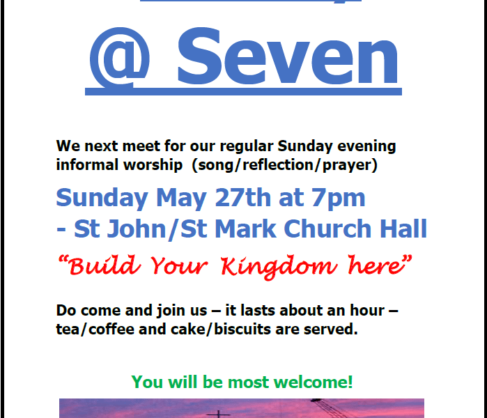 Sunday @ Seven: May 27th