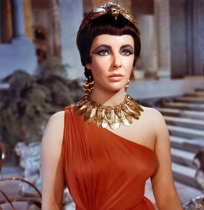 Elizabeth Taylor as Cleopatra in the movie of the same name from 1963. Source: Flickr, James Vaughan