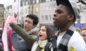 Islington students march for National Voter Registration Day