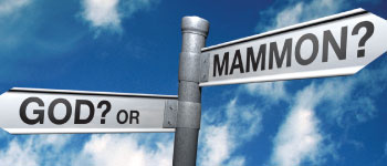 Image result for A Picture of Choosing God or Mammon