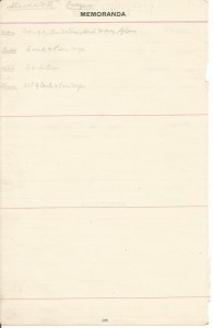 1909 Prayers List