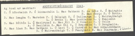 1943 List