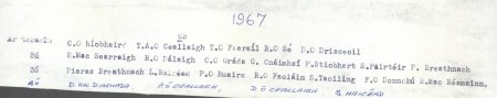 Class List of 1967 6B