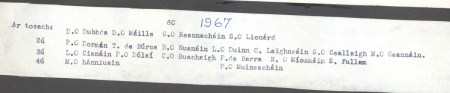 Class List of 1967 6C