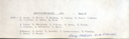 Class List of 1970 6D