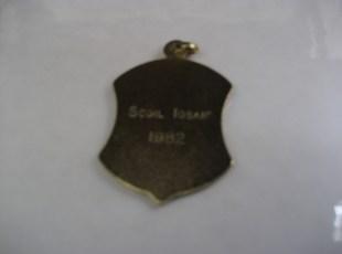Medal 1982 - Back