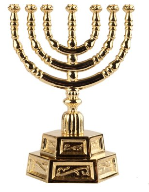 24 Karat Temple Menorah Gold