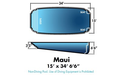 """Maui 15' x 34' 6'6"""""""