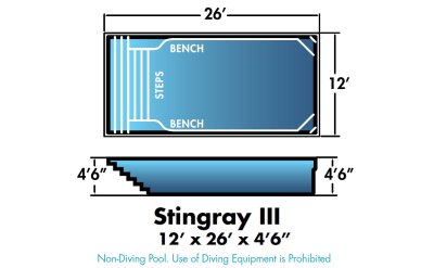 """Stingray III 12' x 26' x 4'6"""""""