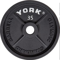 York Barbell 2″ Cast Iron Olympic Weight Plate 35lb