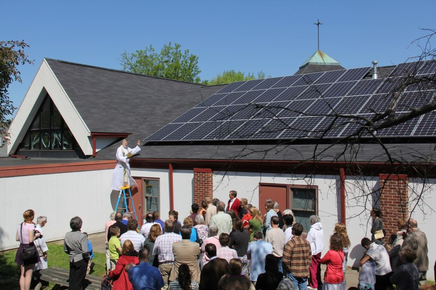 Blessing the solar array, Summer 2013