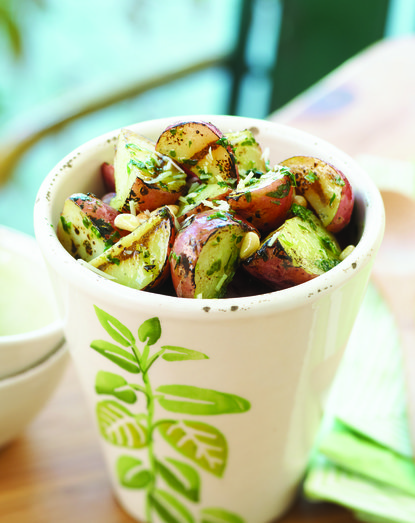 Roasted Red Potatoes with Pesto
