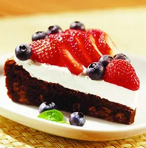 Red White and Blueberry Torte
