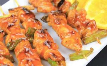 Recipe for Korean spicy chicken skewers