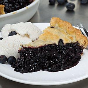 Deep Dish Fresh Blueberry Pie