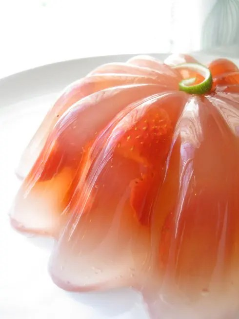 Recipe for Strawberry Margarita Gelatin Mold - My friends and I were surprised how good this turned out!  Given it's versatility, I plan on several more margarita-inspired gelatin molds in the future.