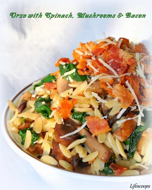 Orzo_with_Spinach_Mushrooms_and_Bacon