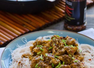 Recipe for Light Bourbon Chicken - A flavorful chicken dish named after Bourbon Street in New Orleans, Louisiana. This was a copycat recipe I found & modified of the Bourbon Chicken sold in most Chinese take-outs.