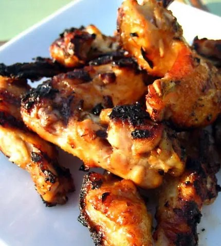 Grilled Coconut Wings with Thai Sauce