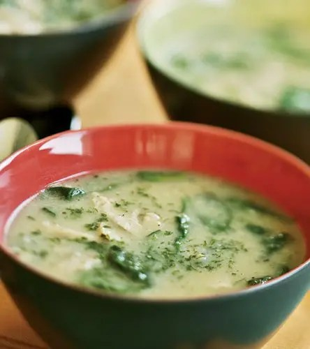Chicken Soup with Fennel and Spinach
