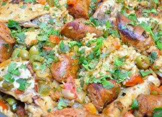 Recipe for Arroz con Pollo y Chorizo - Chicken and Rice with Chorizo