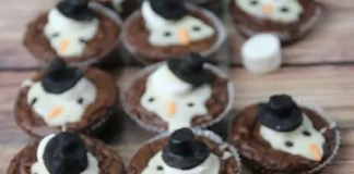 Recipe for Melted Snowman Brownies